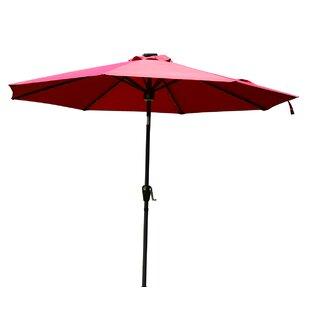 Chalfant 9' Lighted Umbrella by Latitude Run