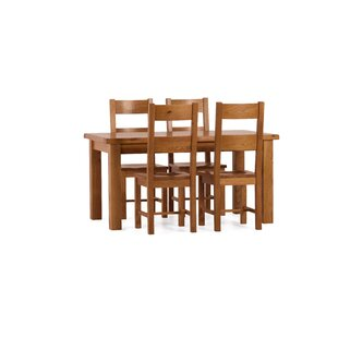 Aaliyah Dining Set with 4 Chairs by Brick & Barrow