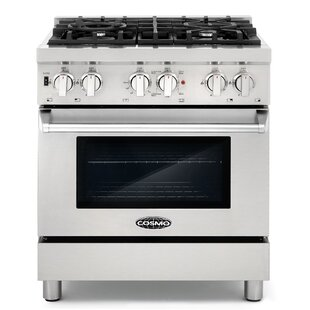 30 3.9 cu ft. Free-standing Dual Fuel Range by Cosmo