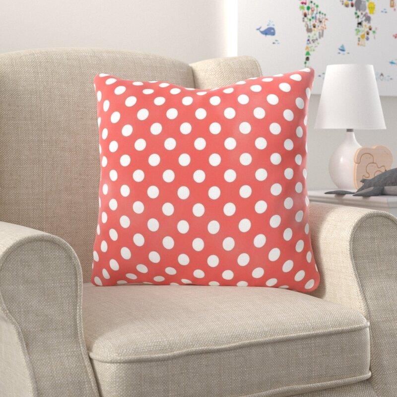Harriet Bee Harpenden Polka Dots Throw Pillow Wayfair
