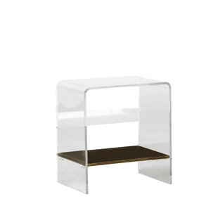 Sloan Lucite Waterfall End Table by Gabby