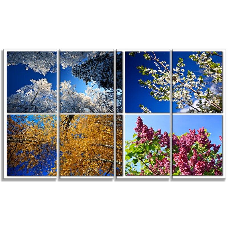 Designart Four Seasons Of Nature Collage Photographic Print Multi Piece Image On Canvas Wayfair