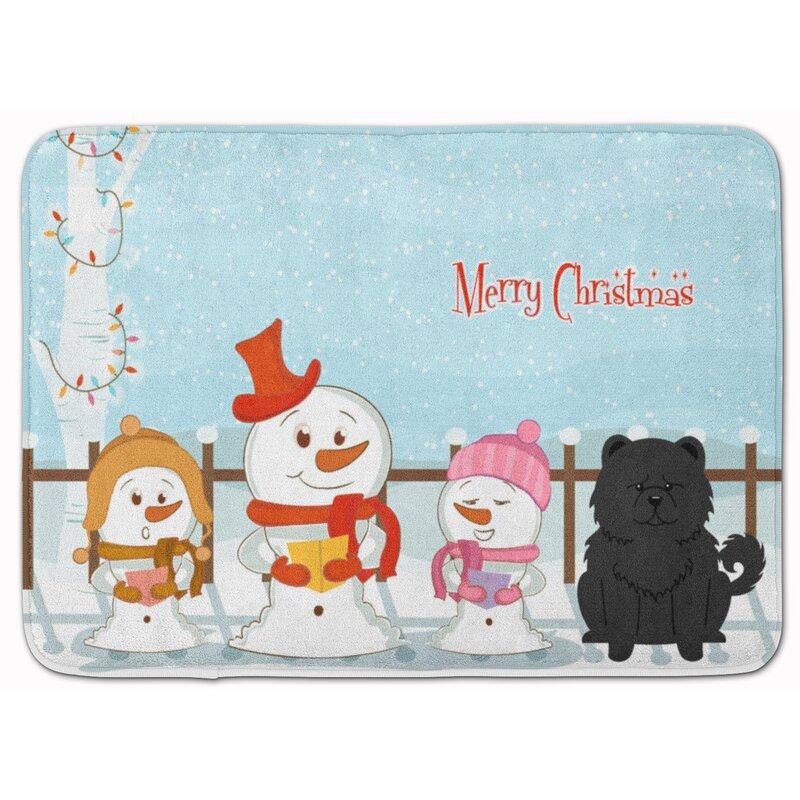 The Holiday Aisle Merry Christmas Chow Chow Rectangle Microfiber Non Slip Bath Rug Wayfair
