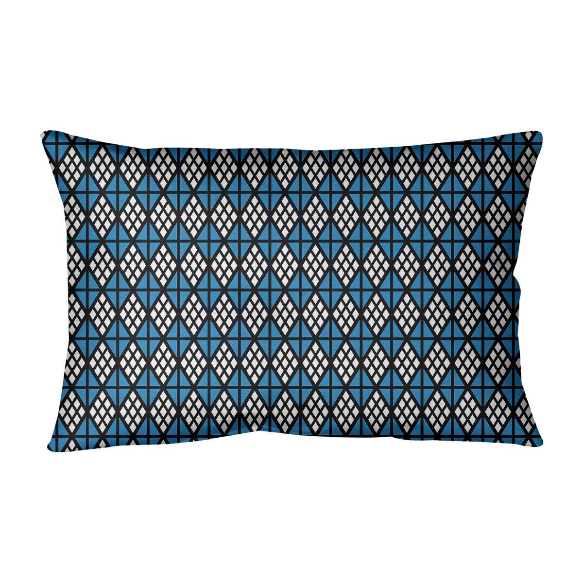 Latitude Run Avicia Diamonds Indoor Outdoor Geometric Lumbar Pillow Wayfair
