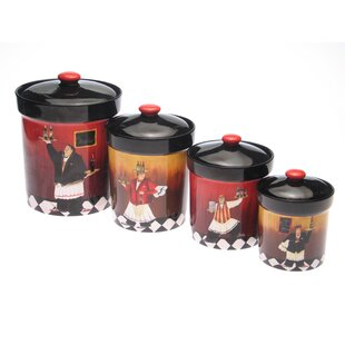 Isabel 4-Piece Kitchen Canister Set