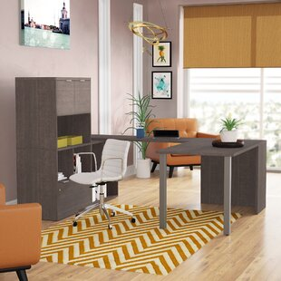 Prattsburgh U-Shape Executive Desk with Hutch
