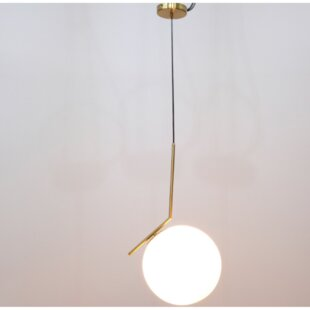 Greenlaw Pipe 1-Light Globe Pendant by George Oliver