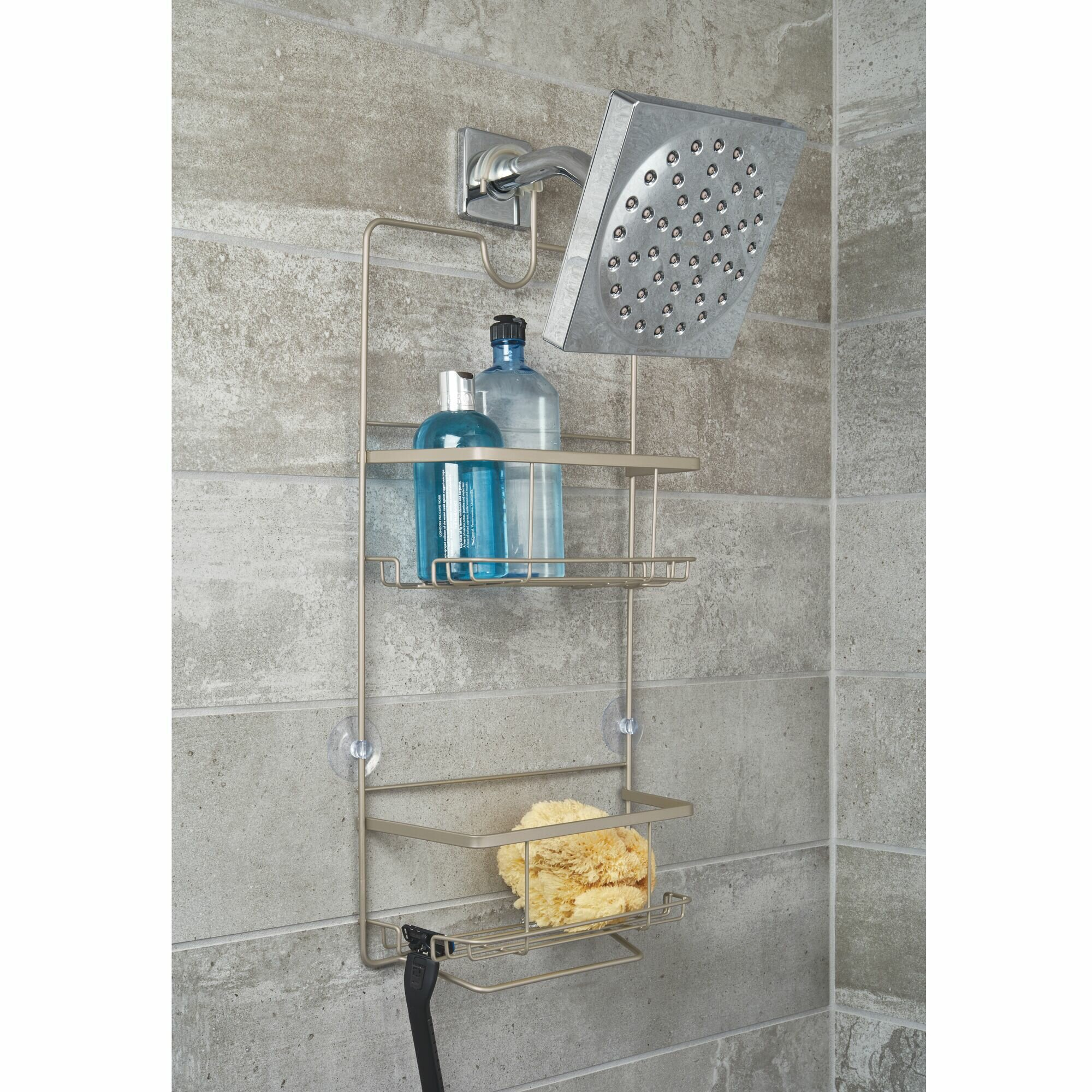 W//O the soap dish Back Plate Shower Caddy Soap Dish for the Ulti-Mate Dispenser