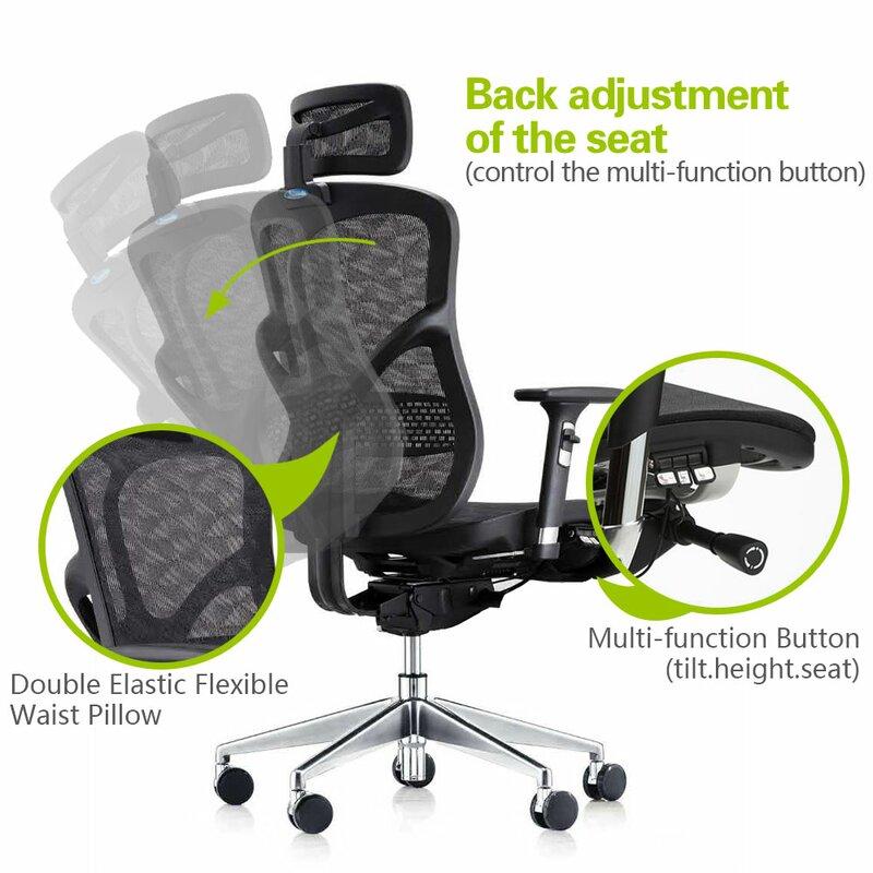 Summer Deluxe Executive Ergonomic Mesh Office Chair