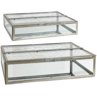 New Mercury Glass Trinket Boxes | Wayfair YC94
