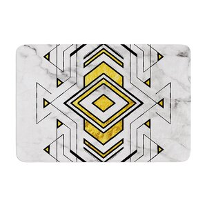 Geo Marble Graphic Tribal Memory Foam Bath Rug