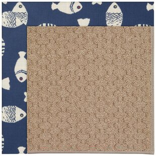 Lisle Machine Tufted Pitch and Beige Indoor/Outdoor Area Rug