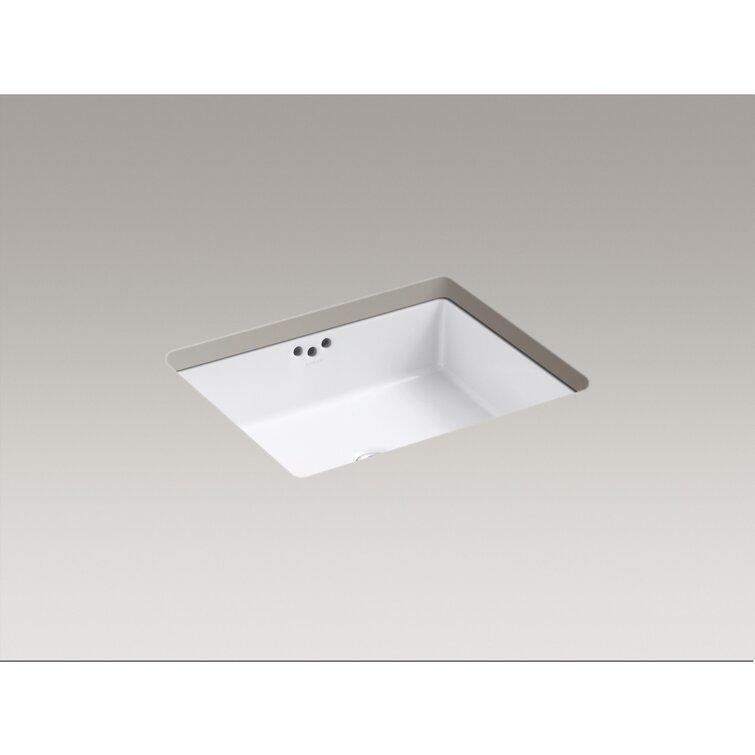 K 2330 0 Kohler Kathryn Ceramic Rectangular Undermount Bathroom Sink With Overflow Reviews Wayfair