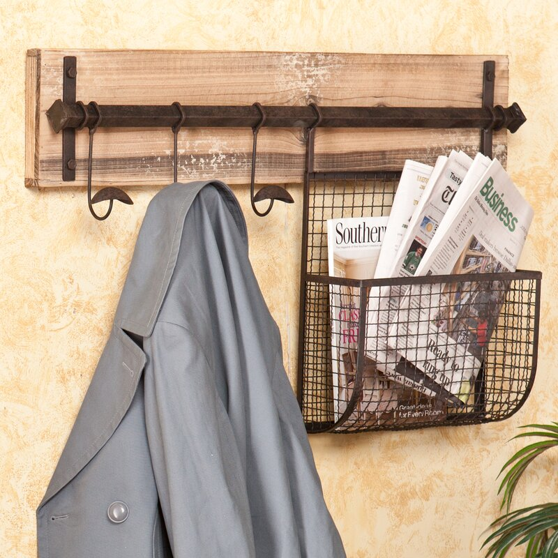 Selby Entryway Wall Coat Rack With Storage Reviews Birch Lane Amazing Hanging Coat Rack With Storage