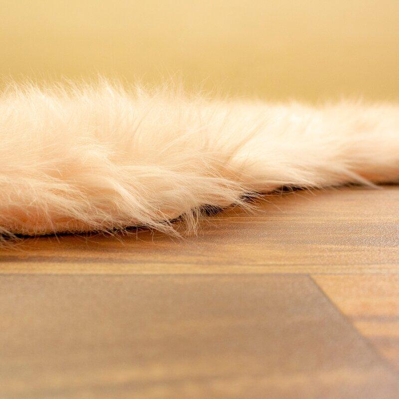 Sheepskin Faux Fur Rugs Bearskins Throw Carpeting Shag Handmade Furry Rugs Decor