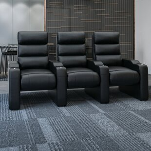 44 Manual Rocker Recline Home Theater Sofa (Row of 3) By Latitude Run