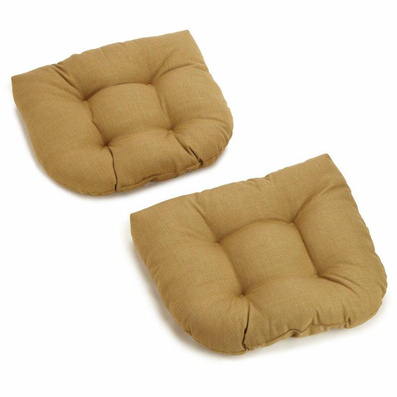 Three Posts Indoor/Outdoor Adirondack Chair Cushion  Fabric: Wheat