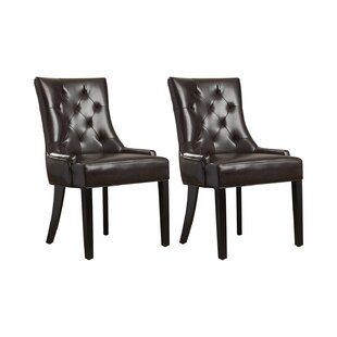Albertina Upholstered Dining Chair (Set Of 2) By Three Posts
