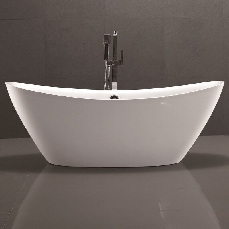 60 inch freestanding soaking tub. 71  x 34 Freestanding Soaking Bathtub Vanity Art Reviews Wayfair