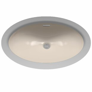 Read Reviews Augusta Decorative Ceramic Oval Undermount Bathroom Sink with Overflow By Toto