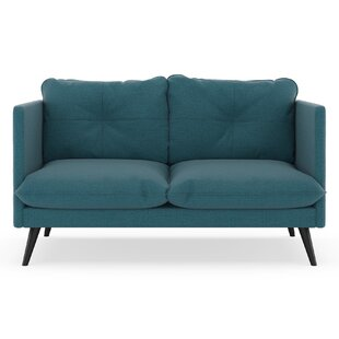Rodrick Oxford Weave Loveseat by Brayden Studio