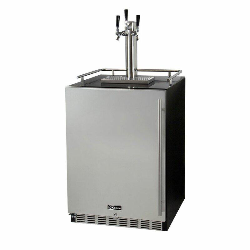 Kegco Triple Tap Full Size Beer Dispenser | Wayfair