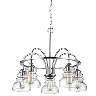 Wrought Studio Sherlock 5-Light Shaded Chandelier