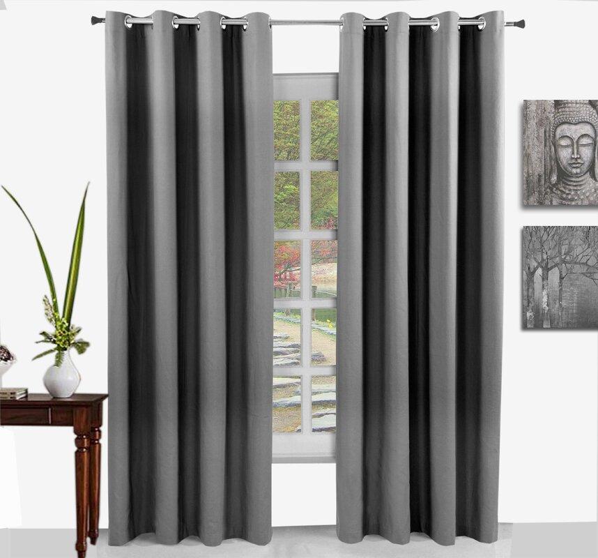 elite home collection vorh nge mit nicht gef tterten schlaufen bewertungen. Black Bedroom Furniture Sets. Home Design Ideas