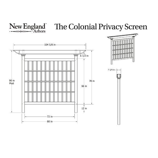 New England Arbors Colonial Composite Privacy Screen Vinyl ...