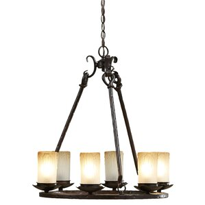 tocqueville 6light shaded chandelier