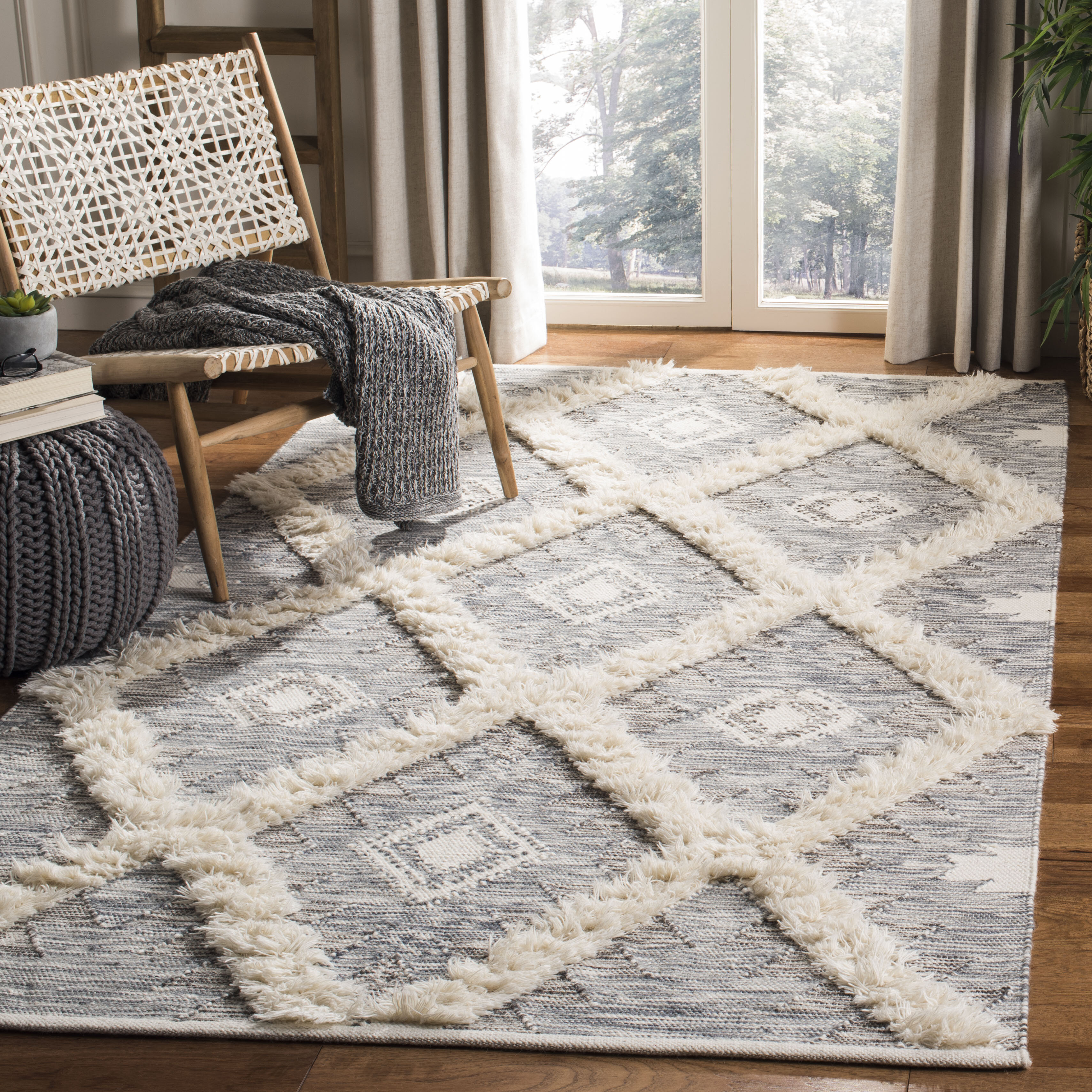 Parinaaz Hand Knotted Wool Cotton Gray Area Rug Reviews Allmodern