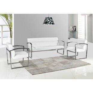 Nimitz Mint Modern 3 Piece Living Room Set by Orren Ellis