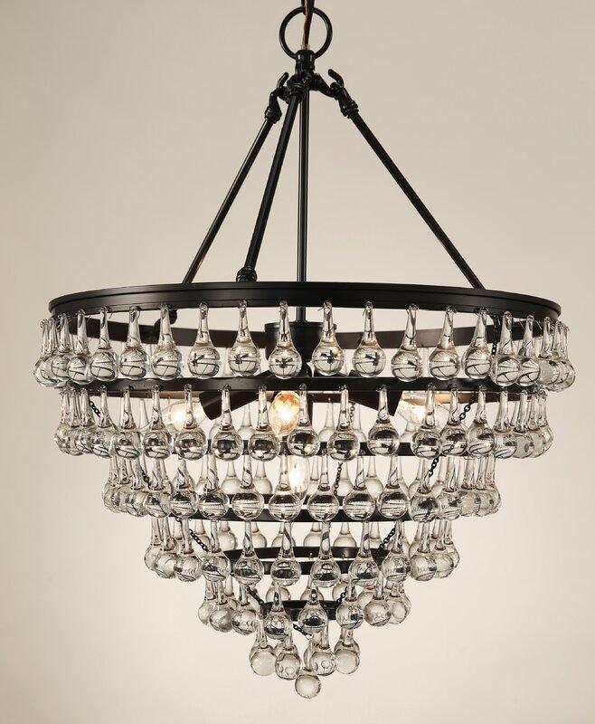 Elco tear drop 5 light crystal chandelier reviews birch lane elco tear drop 5 light crystal chandelier aloadofball Images