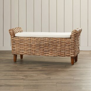 Union Point Wicker Bench by Three Posts