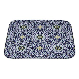 Read Reviews Delta Oriental Traditional Floral Ornament, Moroccan Pattern Bath Rug By Gear New