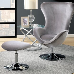 Orren Ellis Anders Accent Lounge Chair and Ottoman