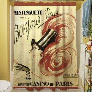 Bonjour Paris Shower Curtain