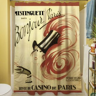 Bonjour Paris Single Shower Curtain