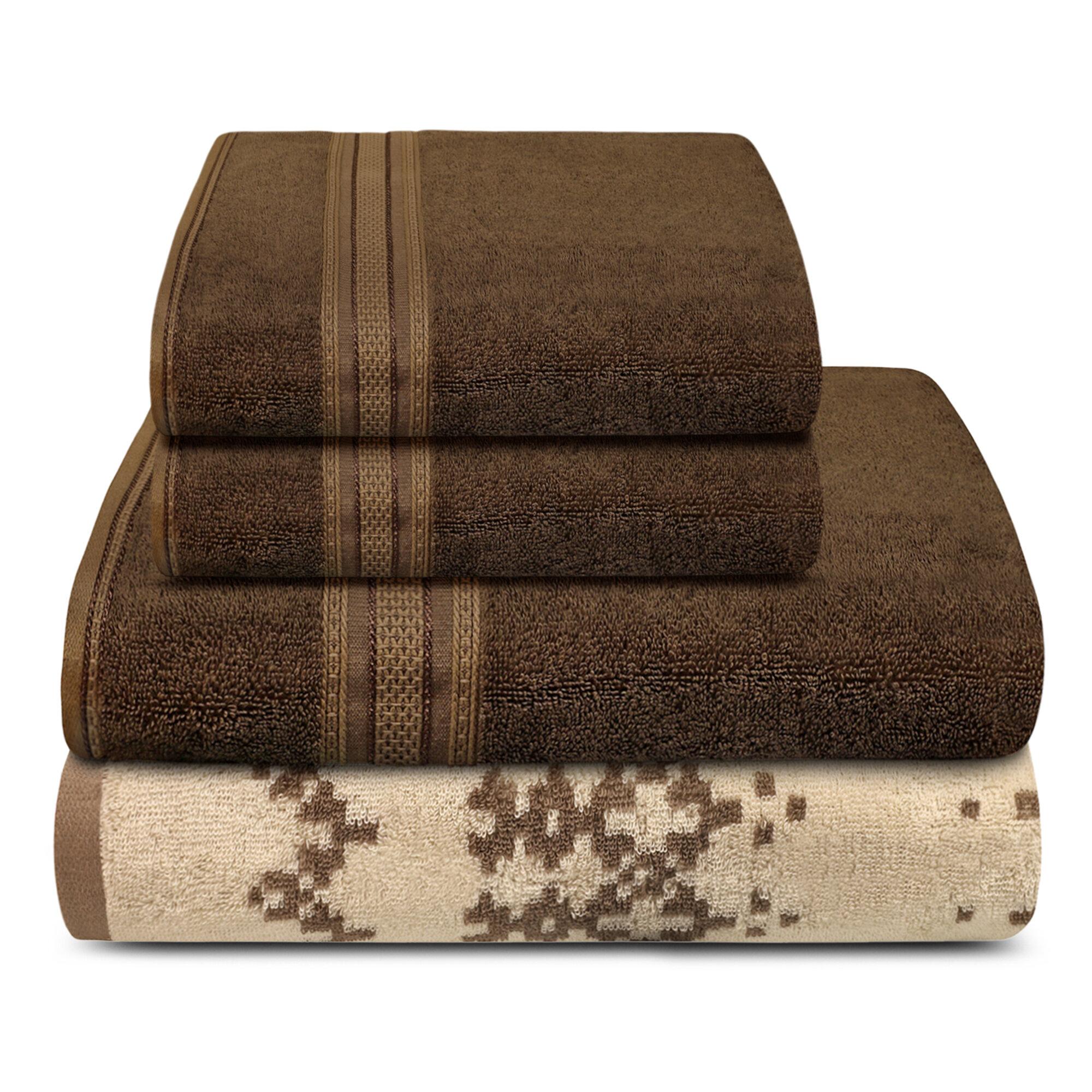 Trident 4 Piece 100 Cotton Towel Set Wayfair