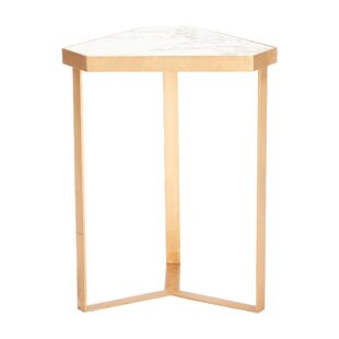 Tri-Hex Glass End Table By Global Views