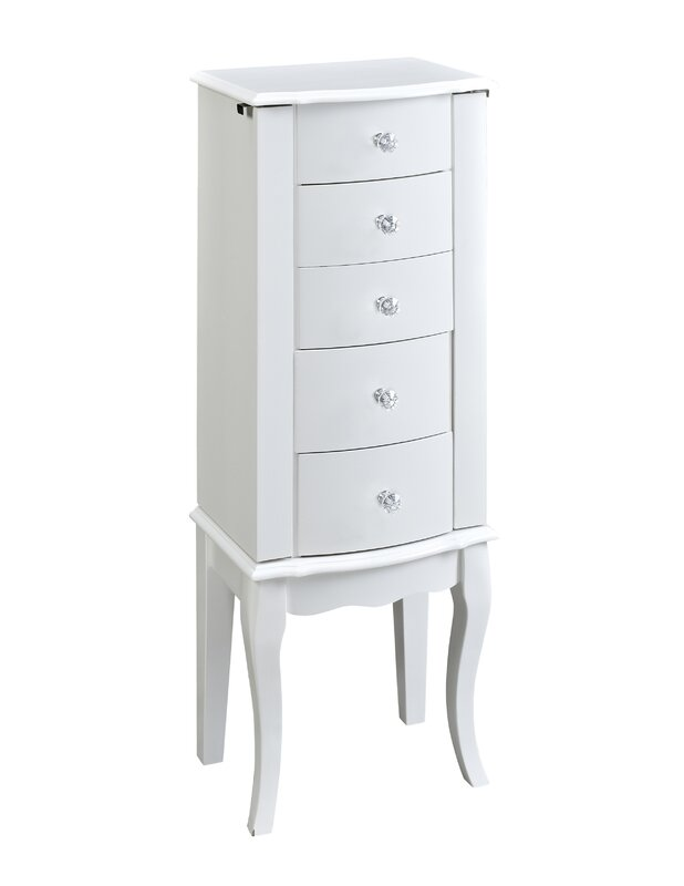 Zariah White Jewelry Armoire