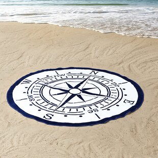 Compass 100% Cotton Beach Towel