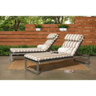 Corrigan Studio Gary Reclining Chaise Lounge with Cushion (Set of 2)