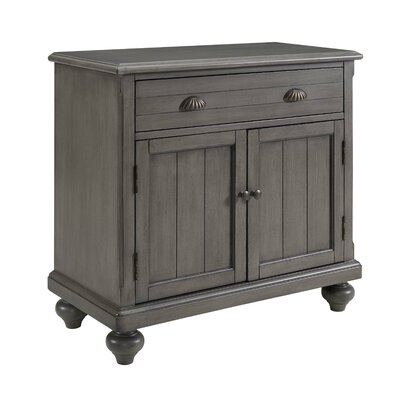 Ashland 2 Door Accent Cabinet Color: Gray by August Grove