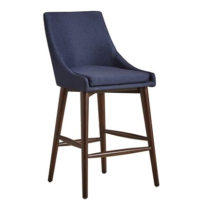 Marvelous Mercury Row Blaisdell 24 Bar Stool Upholstery Twilight Blue Machost Co Dining Chair Design Ideas Machostcouk