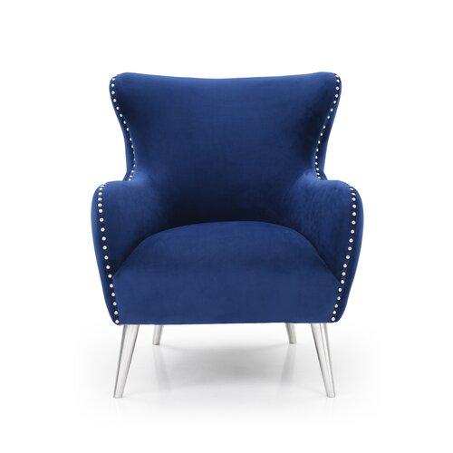 Lottie Wingback Chair Canora Grey