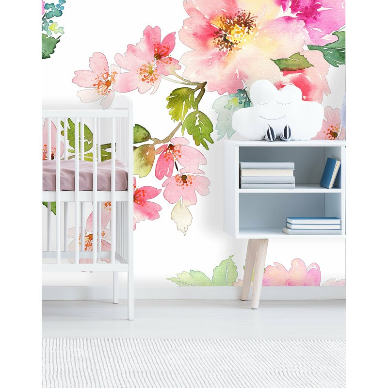 House Of Hampton Noe Removable Nursery Spring Floral 10 L X 120 W Peel And Stick Wallpaper Roll Reviews Wayfair
