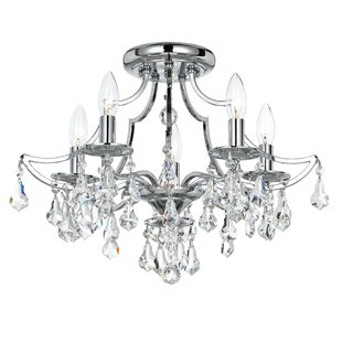 Platinum 5-Light Semi Flush Mount by House of Hampton