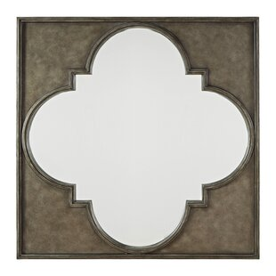 One Allium Way Mikah Quatrefoil Metal Accent Mirror