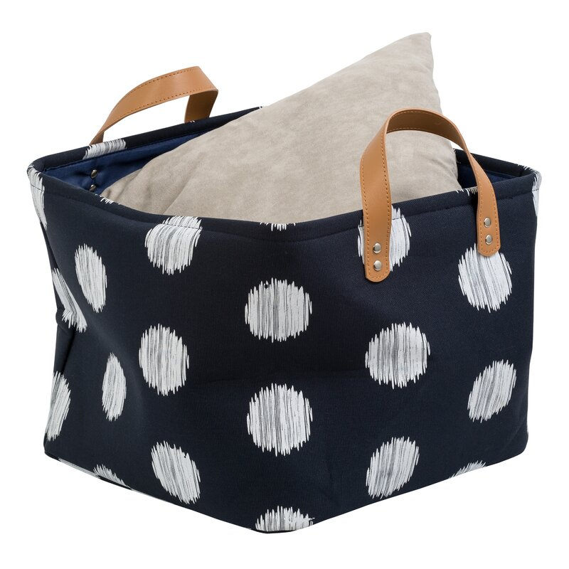 Coastal Fabric Decorative Storage Bin
